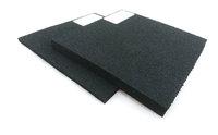 Plattenware mit hoher Rückstellung schwarz