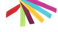 Reißverschlußband in verschiedenen Farben